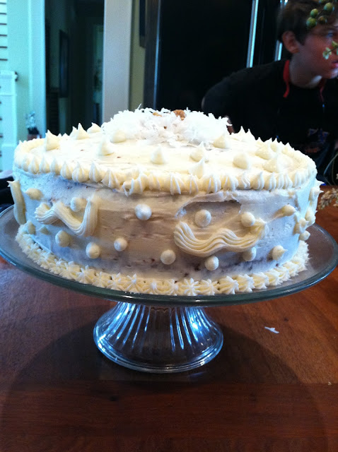 by it's cover! This is my precious Mamma's homemade Italian Cream Cak...