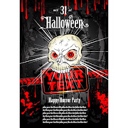 21. Free Vector Grunge Halloween Style Title