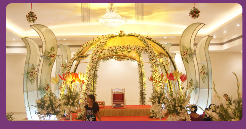 A WEDDING PLANNER Indian Wedding Hall Shaadi Mandap Decorations