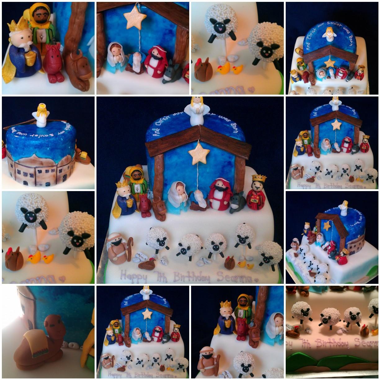 Cakes By Diana In Charlotte Nc Nativity Birthday Cake