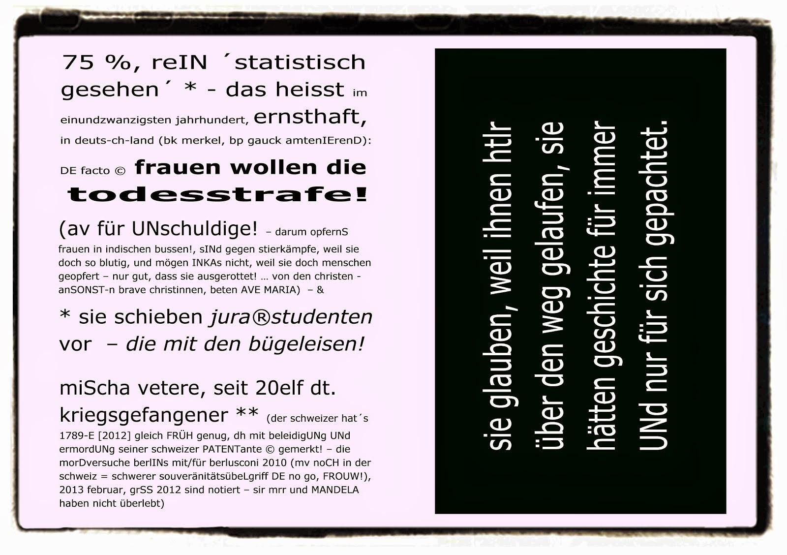 percentual genese VETO todesstrafe deutschland mischa vetere joachim gauck troy davis taz 9 2011