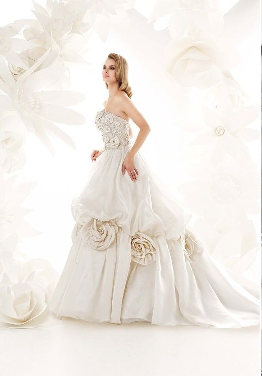 Ball Gown with flowers