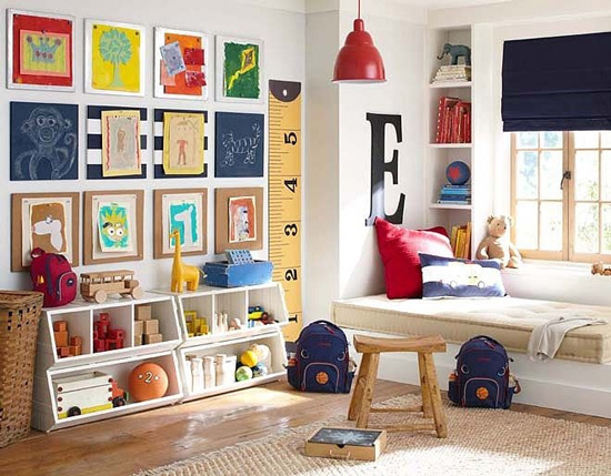 Belle maison kids spaces playroom workroom inspiration for Kids play rooms