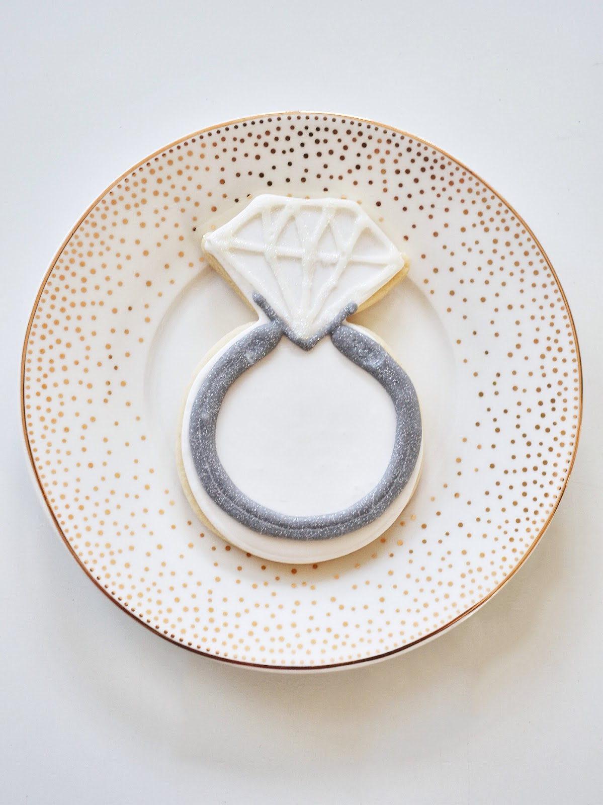 Engagement party champagne brunch homemade sugar cookies engagement ring