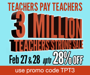 photo of TeachersPayTeachers Sale!, February 27 and 28th,TeachersPayTeachers.com/Ruth-S