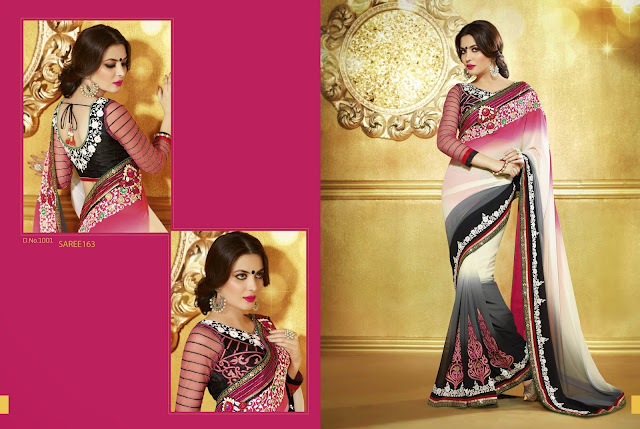 Buy Online Embroidered Indian Designer Saree