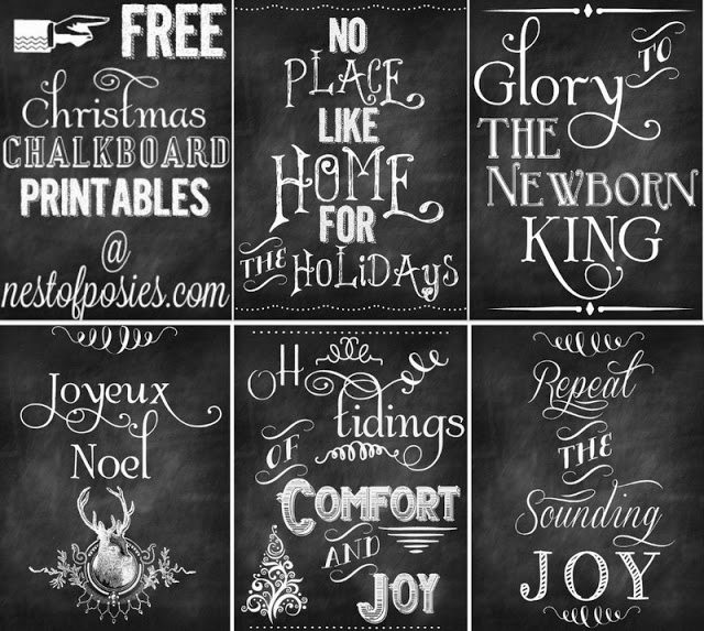 homevolution free christmas poster printables