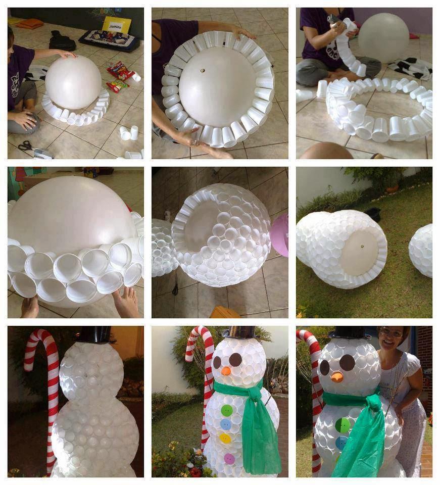 Plastic Cup Snowman Pinterest
