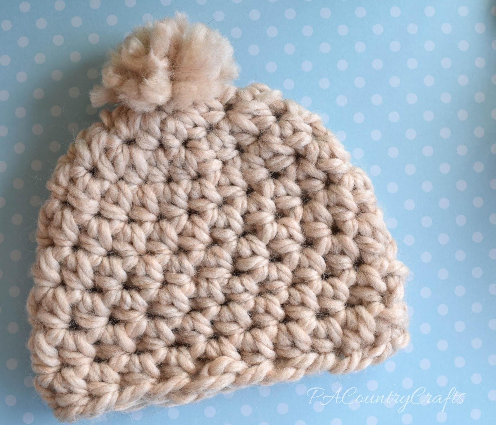 Free Crochet Chunky Newborn Hat Pattern : Chunky Newborn Beanie Pattern PA Country Crafts