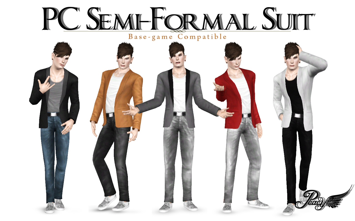 my sims 3 blog semiformal suit by peacemaker ic