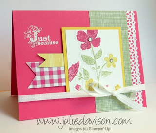Stampin' Up! Wildflower Meadow Card #stampinup www.juliedavison.com