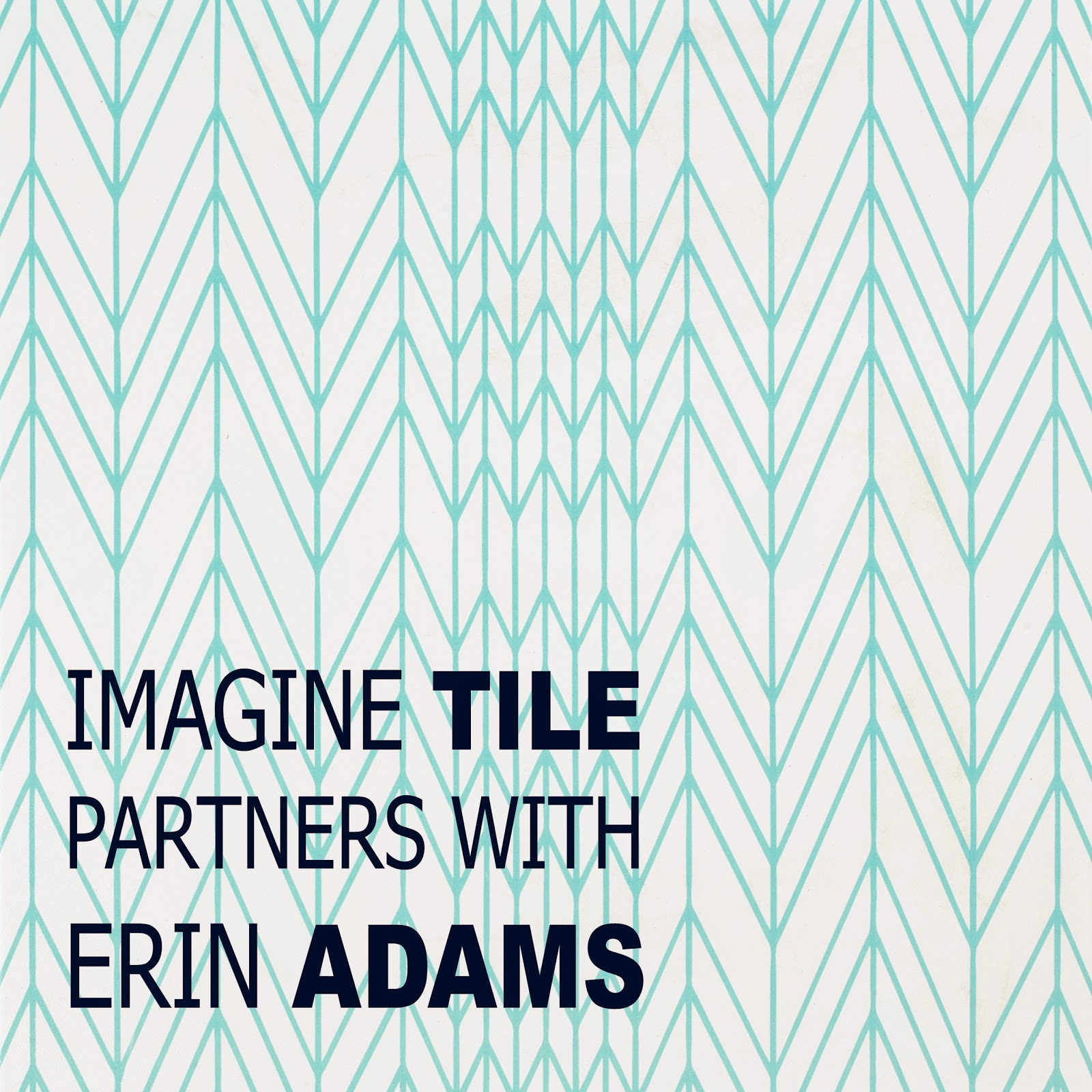 MoD Design Guru - Thinking-Outside-the-Box Design: DESIGNER SPOTLIGHT: ERIN ADAMS partners with IMAGINE TILE - Slant Stitch
