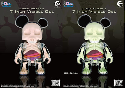 Toy2R - Jason Freeny&#8217;s 7&#8221; Visible Qee Standard Edition and low In The Dark Limited Edition