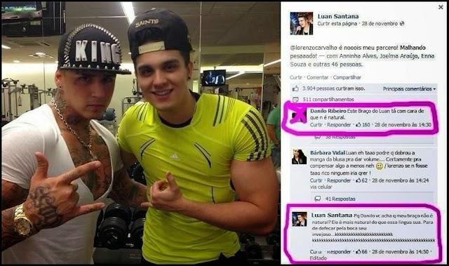 Luan Santana crítica fã no facebook, veja !