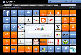screenshot of my personal learning network on symbaloo.com