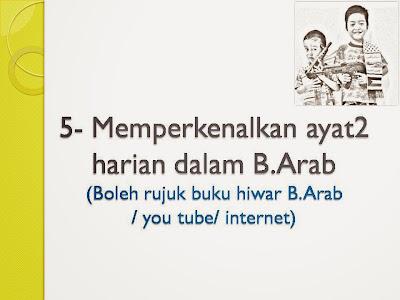 untuk mengajar anak berkomunikasi/ bercakap dalam Bahasa Arab (Siri 2