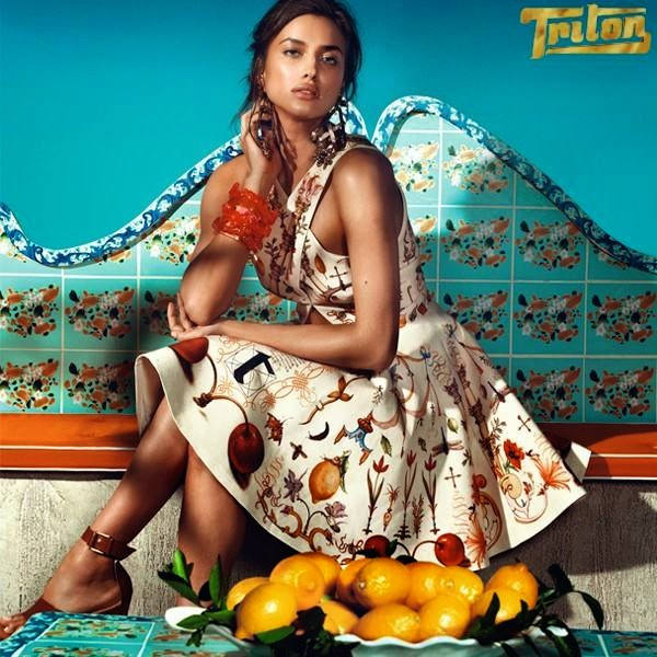 Irina Shayk and Evandro Soldati feature for the Triton Spring/Summer 2015 Campaign