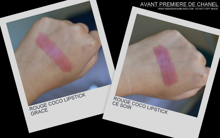 Avant-Premiere de Chanel Makeup Collection Spring Summer 2013 Collection Beauty Blog Photos Swatches Rouge Coco Lipsticks Ce Soir Grace