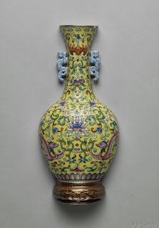 Famille Jaune Imperial Vase