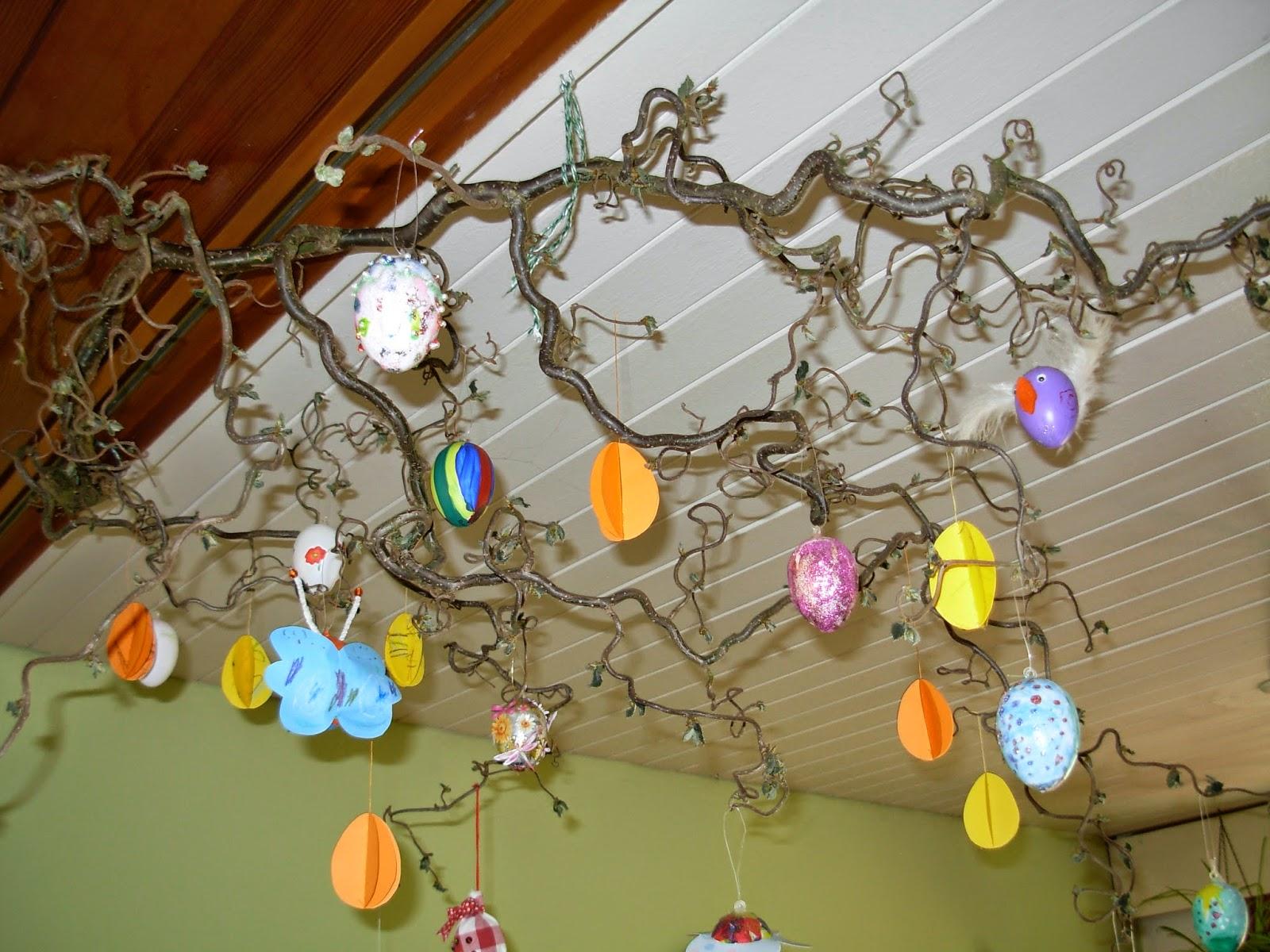 selbstgebastelt für den Osterbaum