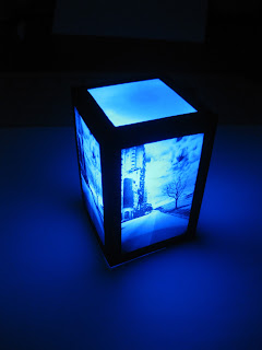 LED paper luminary.