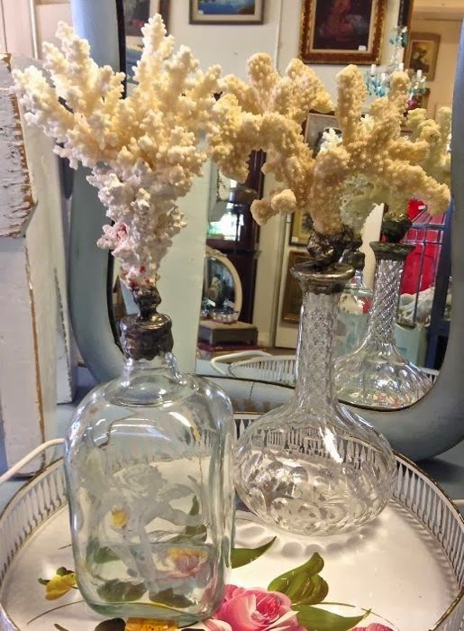Soldered coral bottles by The Pickled Hutch