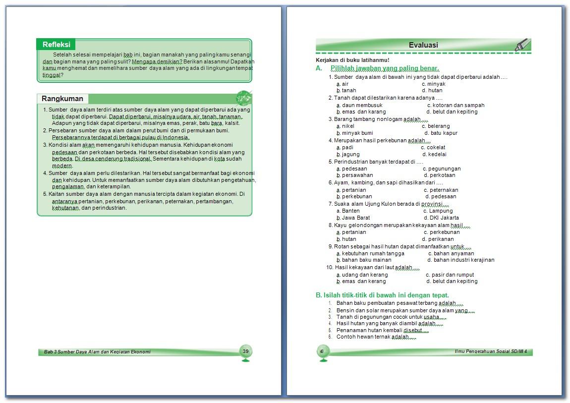 Ips Sumber Daya Alam Dan Kegiatan Ekonomi Bab 3 Kelas 4 Sd Arrayhan E Learning