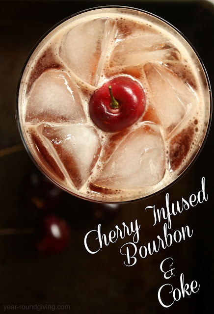Cherry Infused Bourbon and Coke