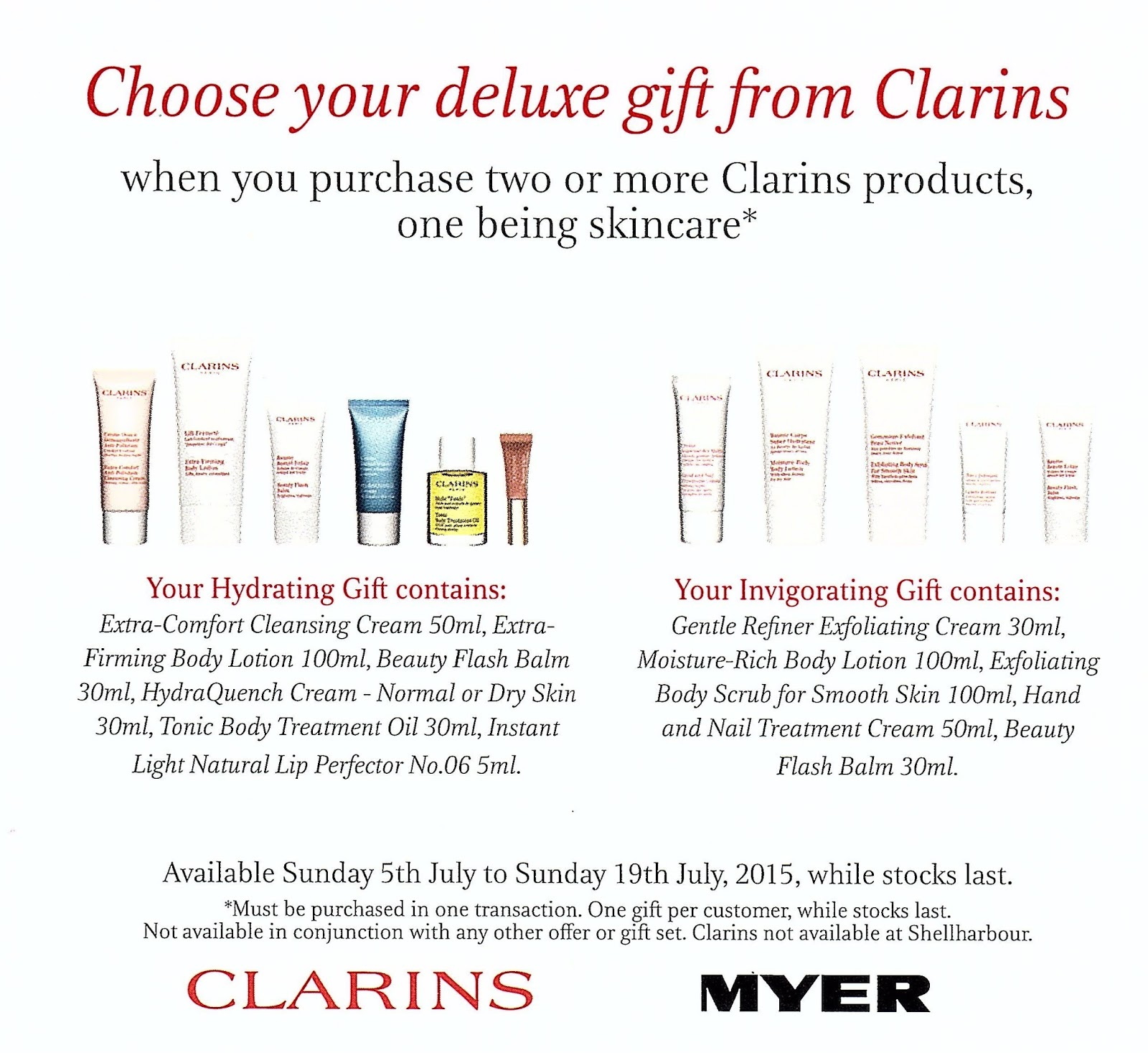 Mac Me And Other Cosmetic Dalliances Clarins Gwp At Myer Body Treatment Oil Tonic 30ml Apologies For The Low Quality Scan But I Thought It Worth Seeing What Is In Both Gifts Case You Like Laid Out A Nice Orderly Fashion Do