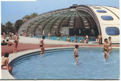Architectures de cartes postales 2 piscine tournesol for Piscine grand quevilly