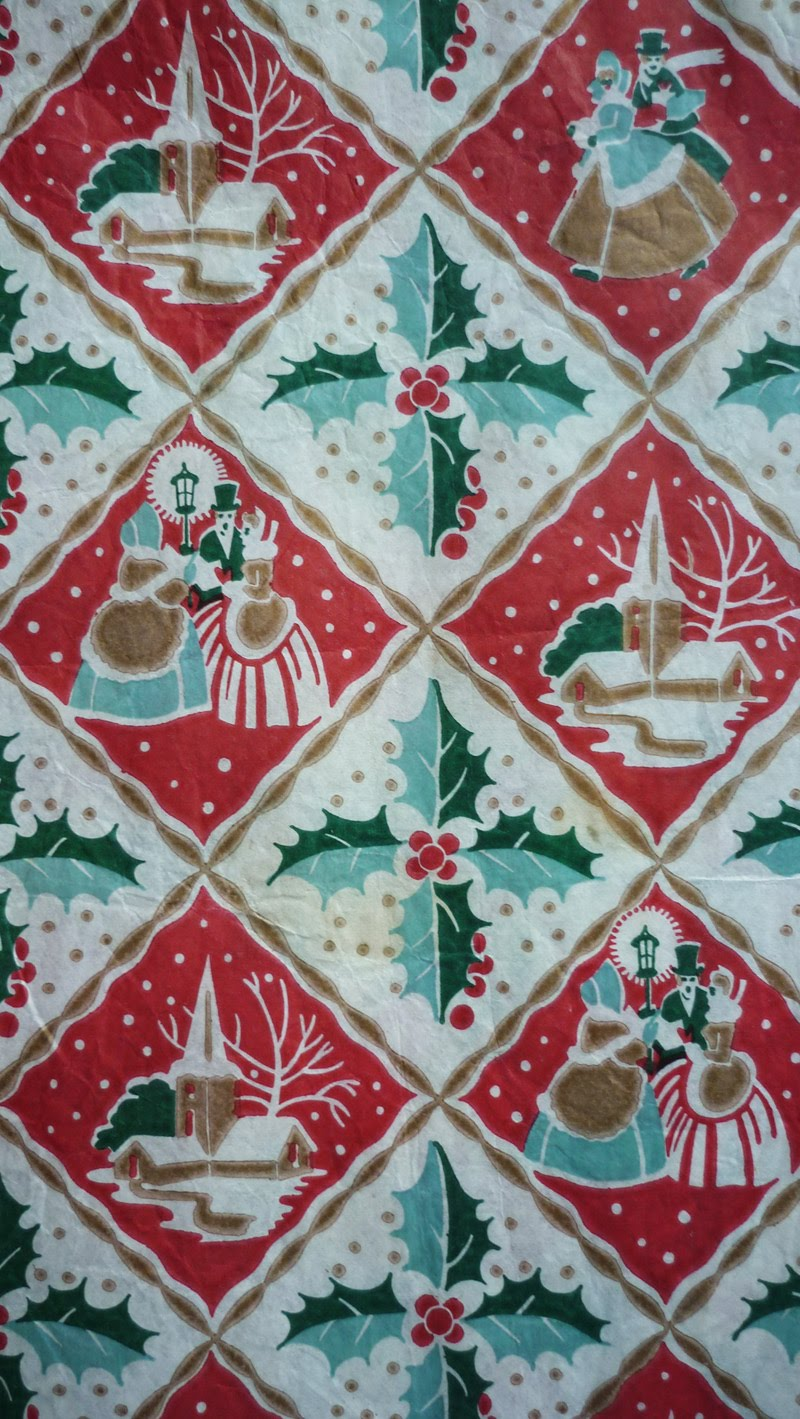 tuesday 26 april 2011 - Vintage Christmas Wrapping Paper