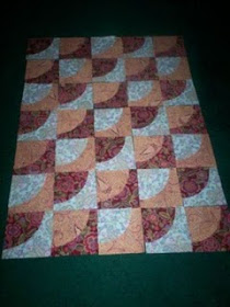 Quilting in progress