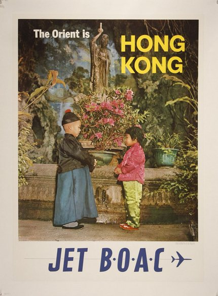 classic posters, free download, graphic design, national park, retro prints, travel, travel posters, vintage, vintage posters, The Orient is Hong Kong, Jet BOAC - Vintage Hong Kong Travel Poster