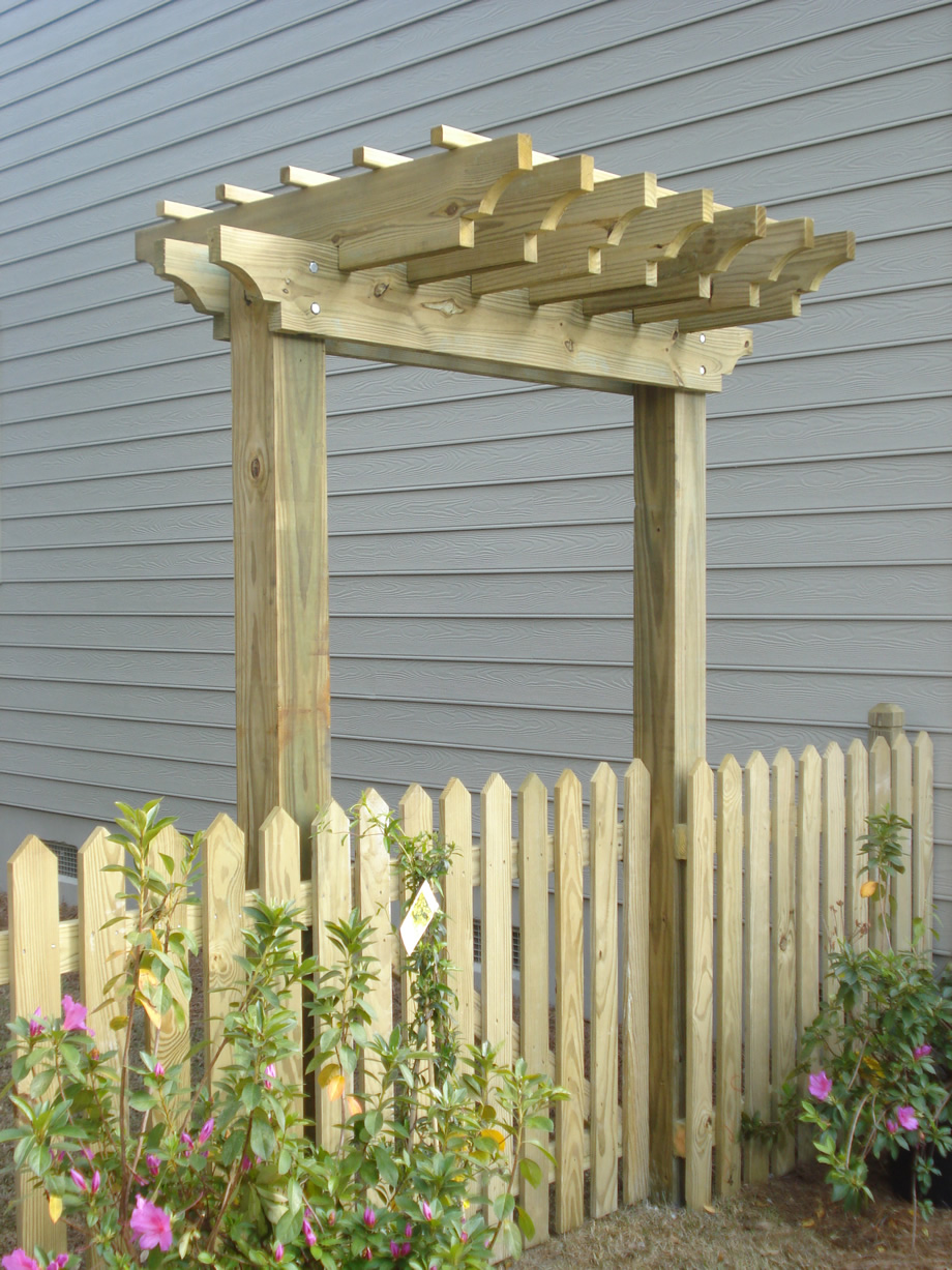Fence gates on pinterest fence gates gates and arbors for Fence with arbor