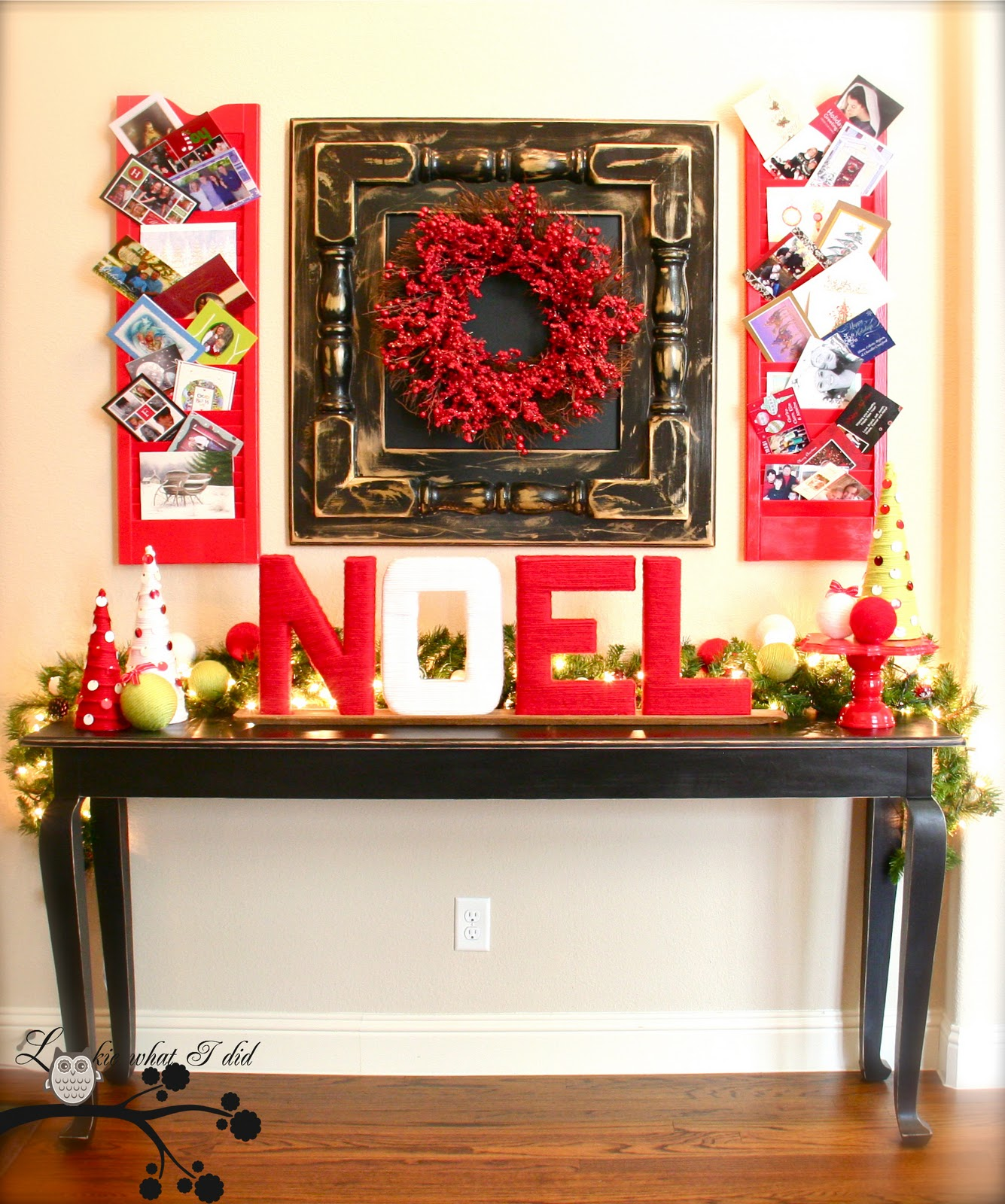 Decorating Foyer Table For Christmas : Lookie what i did it s a handmade holiday