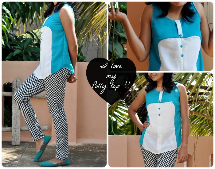 Polly top free sewing pattern by hand london made with chiffon fabrics french seams