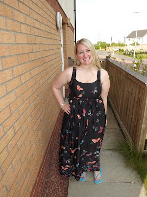 butterfly maxi dress