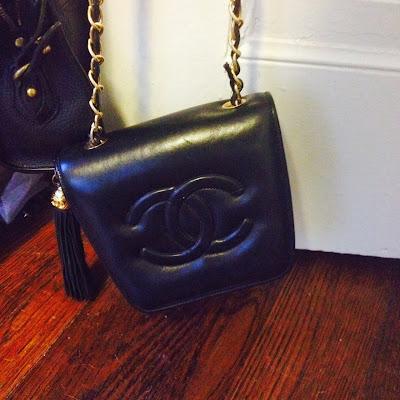 vintage Chanel bag, Chanel, vintage Chanel, etsy, thrifting, vintage bag