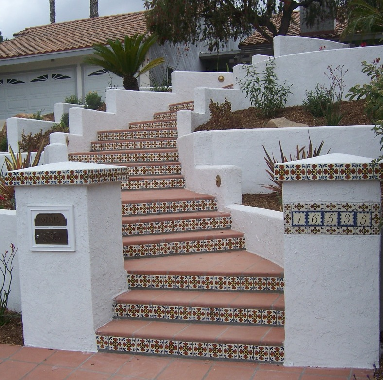 The 2 minute gardener photo stamped concrete with - How to tile concrete stairs ...