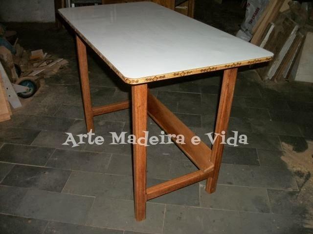 Arte madeira e vida mesa para m quina de costura port til - Mesas para costura ...