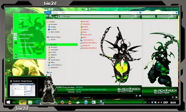 Dead Master / Black Rock Shooter [ Theme Win 8 ] 3