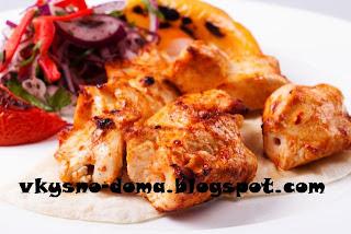 Нежный куриный шашлык в кефирном маринаде