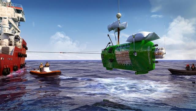 Deepsea Challenger submersible  in Deepsea Challenge