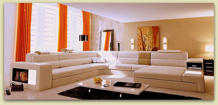 Dise o y decoraci n de la casa muebles seccionales de for Disenos de living