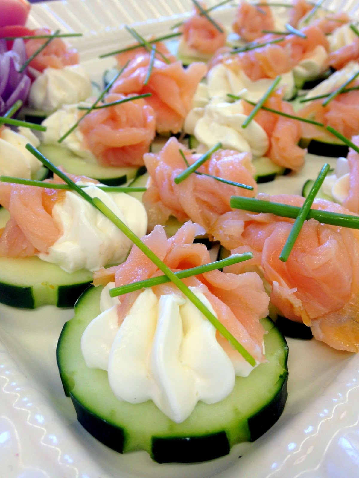 Salmon Cucumber Canapes