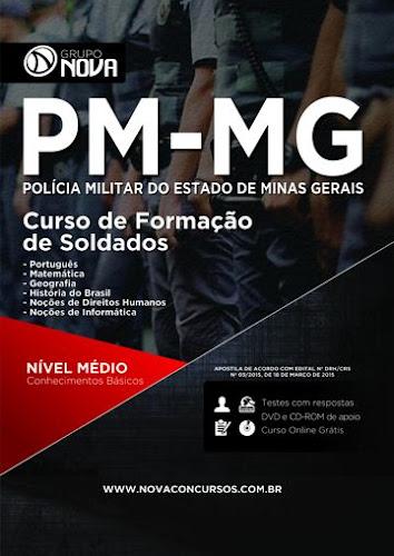 Apostila Impressa Polícia Militar MG Soldado CFSd 2015