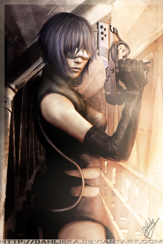 Major Motoko - GITS por Dahlieka
