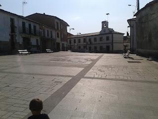 Plaza Salamanca, dónde también se encuentra el ayuntamiento de Lagunilla