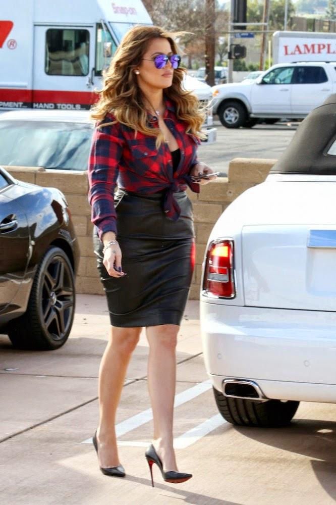 Khloé Kardashian Slays in Sexy SeeThrough Glitter Getup