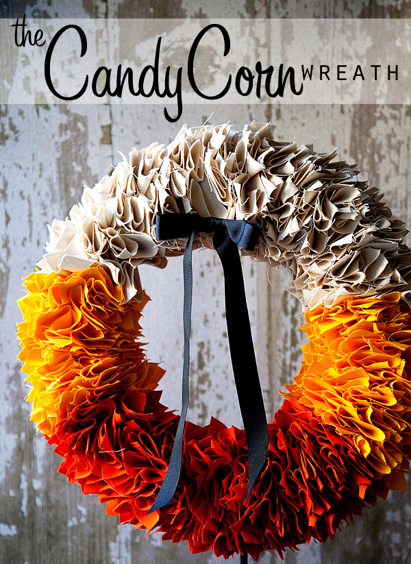 The Candy Corn Wreath Tutorial By Heather From Whipperberry